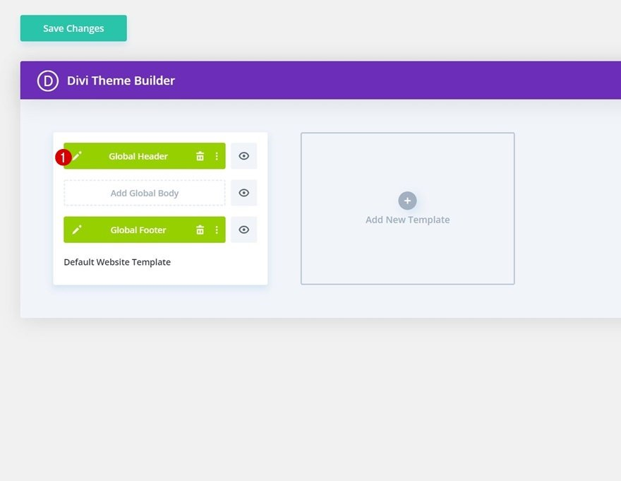 header & footer template for Divi's Softball League Layout Pack