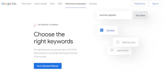 Google Ads Keyword Tool