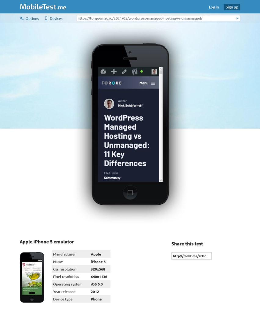 mobiltest.me mobile testing tools