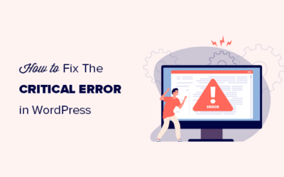 How you can Repair The Important Error in WordPress (Step by means of Step)
